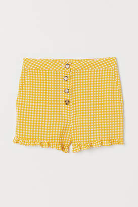 H&M Shorts High Waist - Yellow