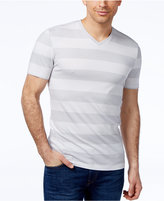 Alfani Men's Wide Striped V-Neck T-Shirt, Created for Macy's