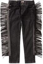 Ralph Lauren Faux-Leather Fringe Jeans, Toddler & Little Girls (2T-6X)