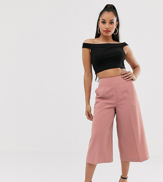 Asos DESIGN Petite tailored clean culottes-Pink
