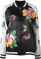 P.A.R.O.S.H. floral decal bomber jacket