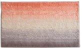 InterDesign Stripz Microfiber Bath Rug, 34 x 21-Inch, Ombre Rug, Coral Multi