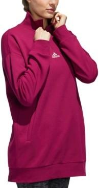 adidas Women's Quarter-Zip Fleece Top