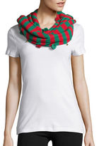 Collection 18 Holiday Striped Infinity Scarf