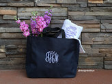Etsy Personalized tote bag, monogrammed tote bag, bridesmaid tote bag, wedding tote, monogrammed gift, pe