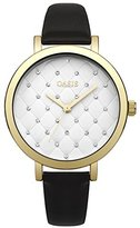Oasis Women's Quartz Watch with White Dial Analogue Display and Black Polyurethane Strap B1577