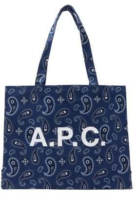 A.P.C. Bandana-print Cotton Tote Bag - Womens - Navy