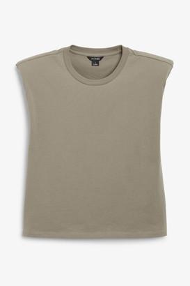 Monki Shoulder pad tank top