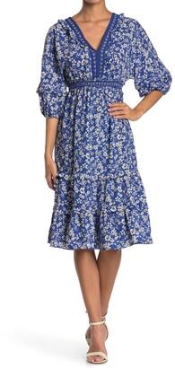 Max Studio V-Neck Empire Waist Dress