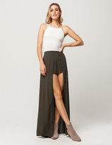 IVY & MAIN Solid Walk Thru Maxi Skirt