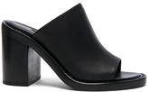 Ann Demeulemeester Leather Mules in Black.