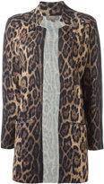 N.Peal leopard-print jacket - women - Cashmere - S