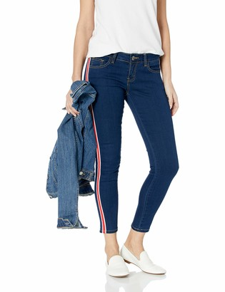 Cover Girl Women's Side Striped Skinny Jeans 2 Wash Options
