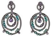 Oscar de la Renta Crystal Loop Clip-On Earrings
