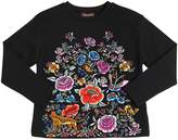 Roberto Cavalli Embroidered Cotton Interlock Sweatshirt