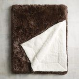 Pier 1 Imports Chocolate Shaggy Sherpa Throw