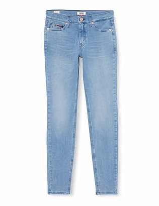 Tommy Jeans Women's Nora Mid Rise Skinny Dyslt Straight Jeans