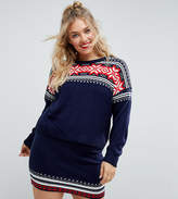 Asos Christmas Co-Ord Jumper In Fairisle