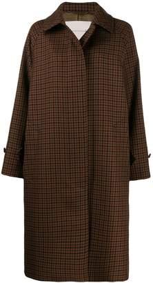 MACKINTOSH Blackridge houndstooth-checked coat