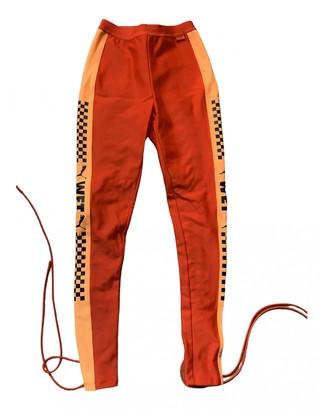 FENTY PUMA by Rihanna Orange Trousers for Women