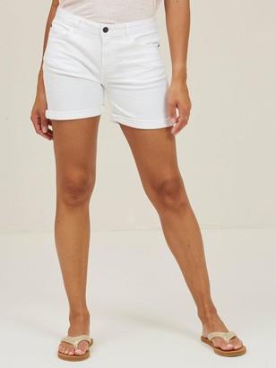 Fat Face Denim Shorts - White