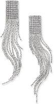 Thalia Sodi Silver-Tone Crystal Fringe Earrings, Only at Macy's