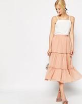 Asos Tiered Midi Skirt