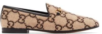Gucci Jordaan Gg-print Felt Loafers - Beige Multi