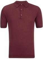 John Smedley Adrian Sea Island Cotton Polo Shirt Russet Red