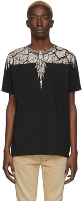 Marcelo Burlon County of Milan Black and Brown Earth Wings T-Shirt