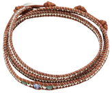 Chan Luu Triple Crystal Leather Bracelet