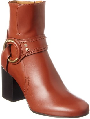 Chloé Demi Ring Leather Bootie