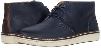 Johnston & Murphy McGuffey Chukka (Navy Oiled Full Grain Leather) Men's Lace-up Boots
