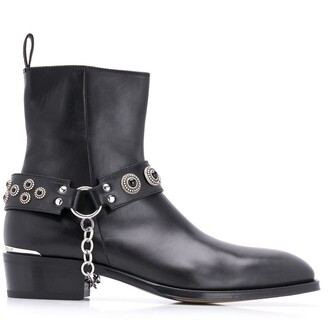Alexander McQueen Harness Cuban heel boots