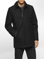 Calvin Klein Wool Blend Car Coat