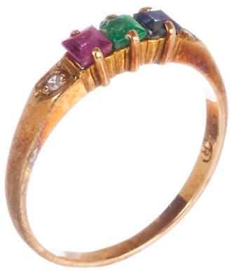 One Kings Lane Vintage 14K Gold & Multi-Gemstone Ring - Treasure Trove NYC