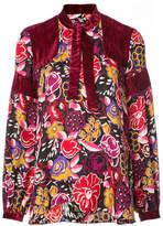 Anna Sui velvet panelled shirt