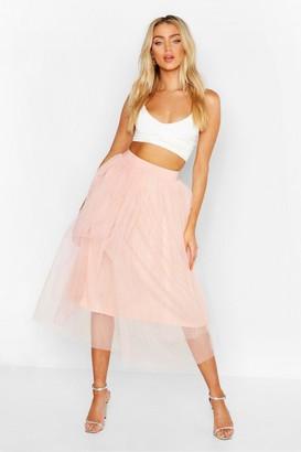 boohoo Tulle Longer Length Midi Skirt