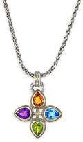 Effy Jewelry Effy 925 Sterling Silver & 18K Yellow Gold Multi Gemstone Pendant, 3.05 TCW