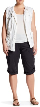 SUPPLIES BY UNION BAY Harriet Knit Waist Crop Pants (Plus Size)