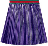 Gucci Children's pleated lurex skirt