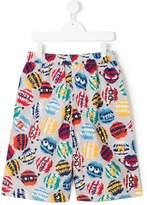 Fendi monster print swim shorts