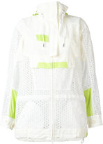 Sacai eyelet lace cagoule style jacket - women - Cotton/Nylon/Cupro - 2