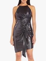 Adrianna Papell Metallic Dress, Black/Gunmetal