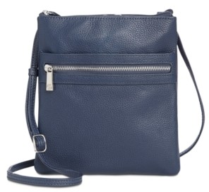 Giani Bernini Triple-Zip Pebble Leather Dasher Crossbody, Created for Macy's