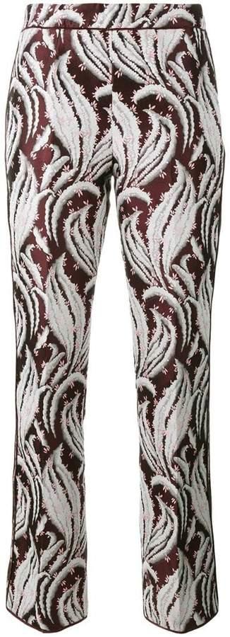 Giambattista Valli embroidered cropped trousers