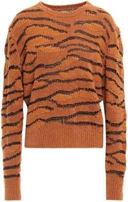 Stella McCartney Wool-blend Boucle And Jacquard-knit Sweater