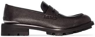 Alexander McQueen logo plaque loafers