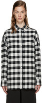 6397 White Flannel Buffalo Check Lori Shirt