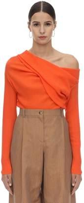 Nina Ricci Micro Pleated Stretch Jersey Top